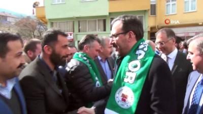 Gençlik ve Spor Bakanı Kasapoğlu'ndan Durağan'a müjdeler