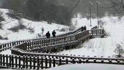 Bolu Dağı'nda kar yağışı etkisini arttırdı - BOLU
