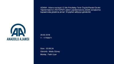 Adana merkezli FETÖ/PDY operasyonu