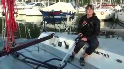 Dünya turu yapan en genç yelkenci olmak için çalışıyor