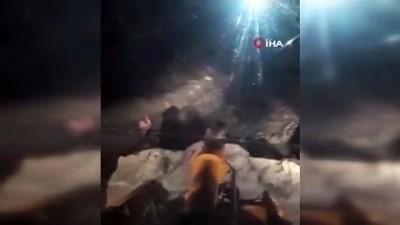 cig dusmesi -  Yola çığ düştü, mahsur kalanları belediye kurtardı