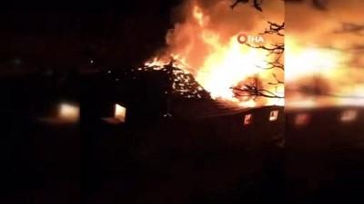 Isparta'daki solucan gübresi üretim tesisi alev alev yandı