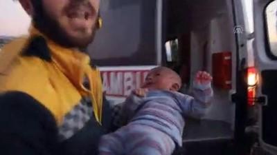 sivil savunma - Suriye'de 3 aylık bebek enkazdan sağ çıkarıldı - İDLİB