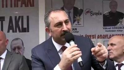 Adalet Bakanı Gül, Borçka'da - ARTVİN