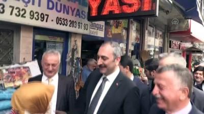 Adalet Bakanı Gül, esnaf ziyaretinde bulundu - RİZE