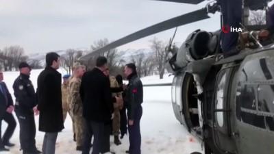 Zorunlu iniş yapan helikopter sorunsuz havalandı