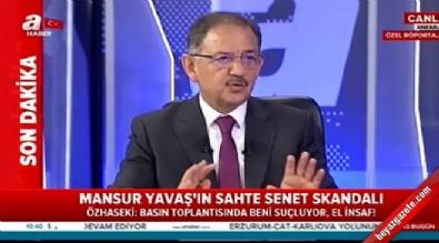 mansur yavas - Mehmet Özhaseki'den flaş sahte senet açıklaması
