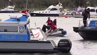 Sütlüce sahilde yelkenli tekne alabora oldu (3) - İSTANBUL