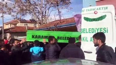 Niğde'deki kazada hayatını kaybeden 2 kişi, Karaman'da toprağa verildi