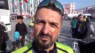 Liseliler bisikletleriyle Çanakkale'ye gidiyor - İSTANBUL