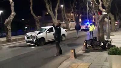 motosiklet surucusu -  Üsküdar'da otomobil ile motosiklet kafa kafaya çarpıştı: 2 yaralı