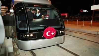 Cumhurbaşkanı Erdoğan 3, etap raylı sistemin test sürüşünü yaptı