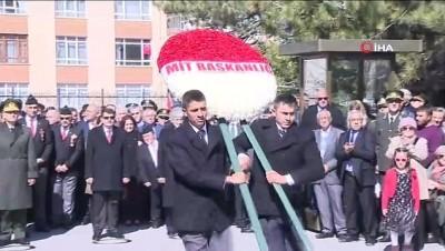 saygi durusu -  Çanakkale şehitleri Cebeci şehitliğinde düzenlenen törenle anıldı