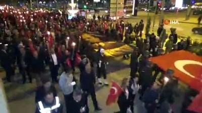 - Kırıkkale'de mehter eşliğinde binlerce kişi yürüdü
