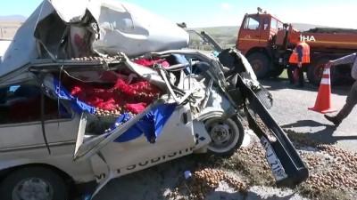 Aksaray'da trafik kazası: 2 ağır yaralı
