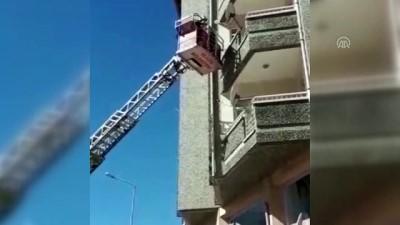 Yangında mahsur kalan 5 kişiyi itfaiye kurtardı - ELAZIĞ