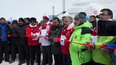 Sarıkamış'ta kış festivali başladı...Festival alanı havadan görüntülendi