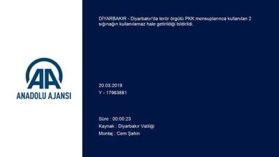 elektrik kablosu - PKK'lı teröristlerce kullanılan 2 sığınak imha edildi - DİYARBAKIR