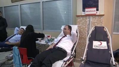 Adliye çalışanlarından kan bağışı - MARDİN