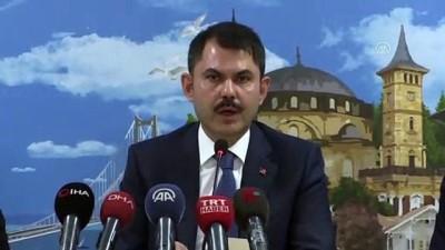 Çevre ve Şehircilik Bakanı Kurum - Riskli bölgelerde yapılan projelendirme çalışmaları - KOCAELİ