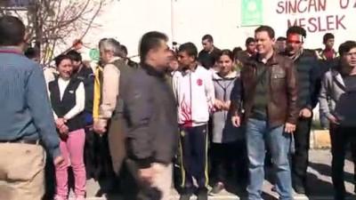 Down sendromlu çocuklardan deprem tatbikatı