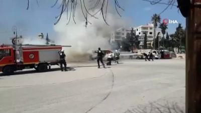 sivil savunma -  - İdlib'de Çifte Patlama: 3 Yaralı