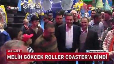 Melih Gökçek Roller Coaster'e bindi
