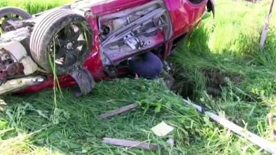 Otomobil tarlaya devrildi: 2 ölü - AYDIN