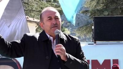 Çavuşoğlu: 'PKK ile HDP arasında bir fark mı var' - ANTALYA