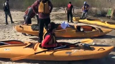 Nehirler arası geçişleri kanoyla yaptılar - EDİRNE