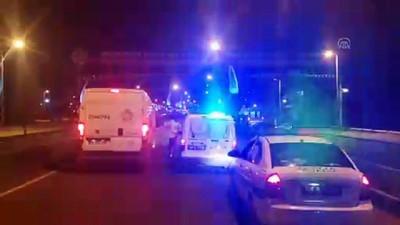 Saman yüklü kamyonun dorsesi trafik levhasına çarptı - MALATYA