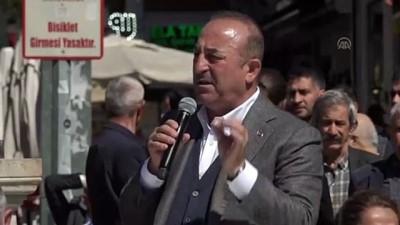 Çavuşoğlu: 'Neden bu terör örgütüyle ve uzantısıyla ittifak kurmak zorunda kaldınız?' - ANTALYA