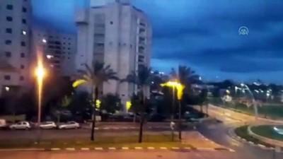 İsrail'in başkenti Tel Aviv'in kuzeyine roket düştü