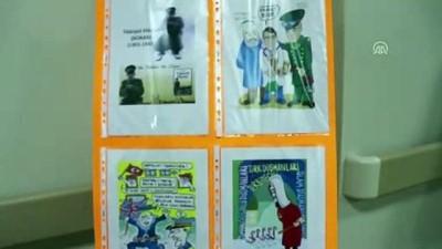 Doktorun karikatürleri hastane koridorlarında sergileniyor - ORDU