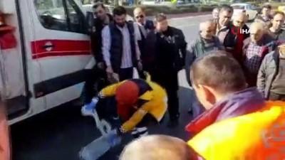 EGO otobüsü yayaya çarptı: 1 yaralı