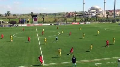 Futbol: 17 Yaş Altı Avrupa Şampiyonası Elit Turu - Türkiye: 1 - Romanya: 3 - ANTALYA