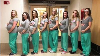 - Kadın doğum ünitesindeki 9 hemşire aynı anda hamile