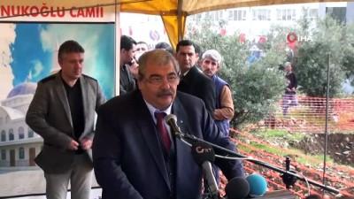 temel atma toreni -  İslahiye Abdulkadir Konukoğlu Camii'nin temeli atıldı