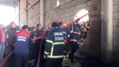 itfaiye araci - Tekstil fabrikasında yangın - ŞANLIURFA