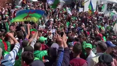 hukumet karsiti -  - Cezayir'de halk sokaklarda - Eylemciler Bouteflika'ya istifa çağrısını yeniledi