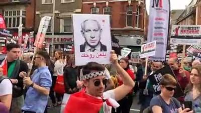 İsrail yanlıları Filistinlileri gösteride susturmak istedi - LONDRA