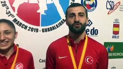 Karatede Aktaş ve Çoban'ın Avrupa şampiyonluğu gururu - GUADALAJARA