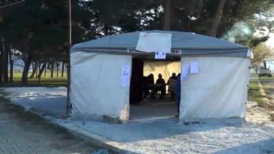 kiraathane - Depremzedeler çadırda oy kullanıyor - DENİZLİ