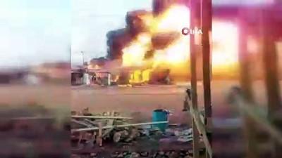 itfaiye araci -  - Somali'de Akaryakıt İstasyonunda Yangın - Şehirde İtfaiye Aracı Yok