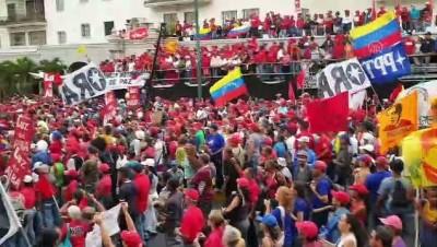 Venezuela'da hükümete destek gösterisi - CARACAS