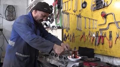47 yıldır yorgun motorlara hayat veriyor - GÜMÜŞHANE