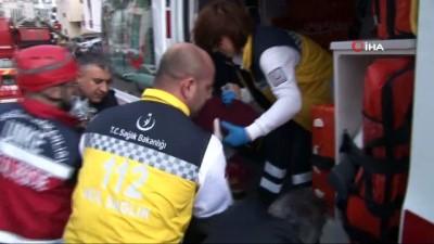 en yasli kadin -  Başkent'te çıkan yangın yürekleri ağza getirdi: Dumandan etkilenenleri teker teker sırtlarında taşıdılar
