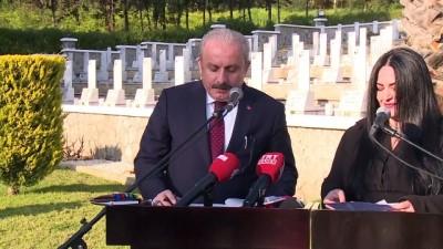 mustesna - TBMM Başkanı Şentop KKTC'de Boğaz Şehitliği'ni ziyaret etti - GİRNE