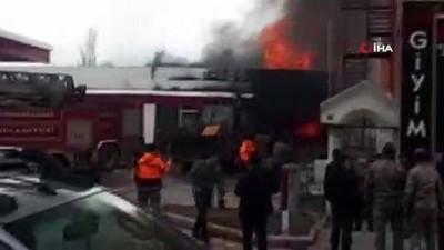 Giresun'un Şebinkarahisar ilçesinde akaryakıt istasyonundaki yangın kontrol altına alındı