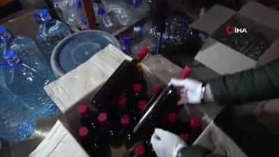 kacak icki -  Damacana dolusu sahte alkol ele geçirildi